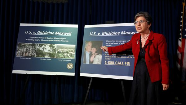 Audrey Strauss, Acting United States Attorney for the Southern District of New York speaks at a news conference announcing charges against Ghislaine Maxwell for her role in the sexual exploitation and abuse of minor girls by Jeffrey Epstein in New York City, New York, U.S., July 2, 2020.  - Sputnik International