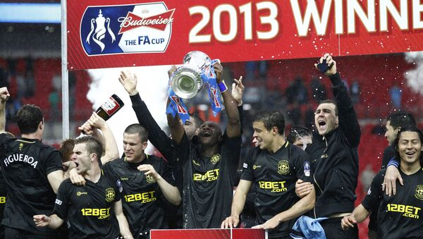 Wigan Athletic won the FA Cup in 2013, defeating Manchester City in the final - Sputnik International
