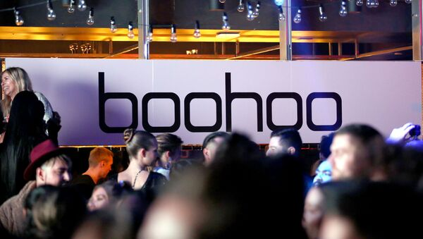 Signage is seen at boohoo x All That Glitters Launch Party on November 07, 2019 in Los Angeles, California - Sputnik International