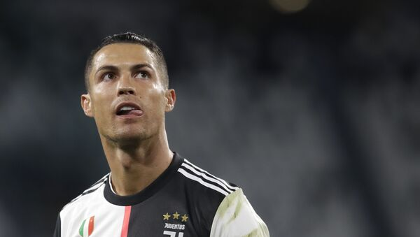 Juventus' Cristiano Ronaldo during an Italian Cup second leg soccer match between Juventus and AC Milan at the Allianz stadium, in Turin, Italy, Friday, June 12, 2020 - Sputnik International
