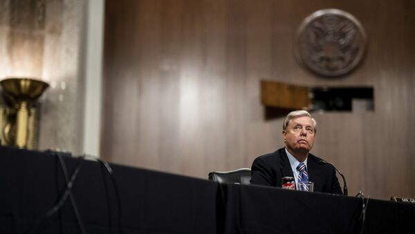 Chairman Lindsey Graham, R-S.C., listens during a Senate Judiciary Committee business meeting to consider authorization for subpoenas relating to the Crossfire Hurricane investigation, and other matters on Capitol Hill in Washington, Thursday, June 11, 2020 - Sputnik International