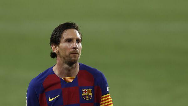 Barcelona's Lionel Messi during the Spanish La Liga soccer match between Sevilla and FC Barcelona at the Ramon Sanchez-Pizjuan stadium in Seville, Spain, Friday, June 19, 2020 - Sputnik International