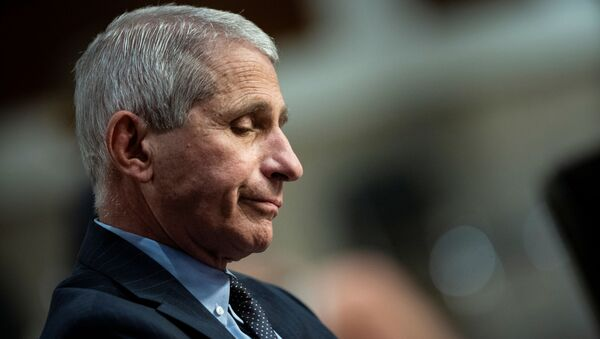 Anthony Fauci, director of the National Institute of Allergy and Infectious Diseases, listens during a Senate Health, Education, Labor and Pensions Committee hearing on efforts to get back to work and school during the coronavirus disease (COVID-19) outbreak, in Washington, D.C., U.S. June 30, 2020. - Sputnik International