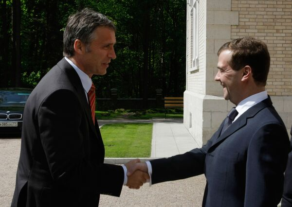 Jens Stoltenberg, on an official visit to Moscow, told Dmitry Medvedev: We are both northern countries, and have major shared interests; we are large producers and exporters of natural gas and electric power. - Sputnik International