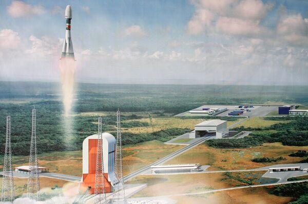 Kourou space center launching pad model - Sputnik International