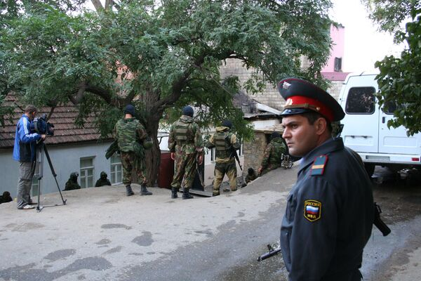 Спецоперация по ликвидации двух боевиков в Махачкале - Sputnik International