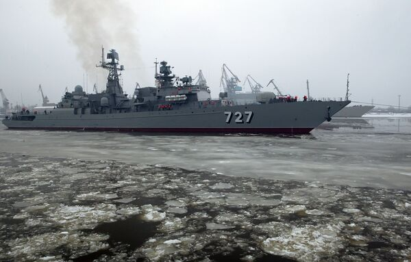 Russian navy takes delivery of new frigate - Sputnik International