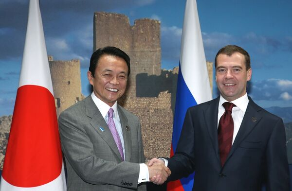Medvedev calls on Japan not to politicize territorial dispute - Sputnik International