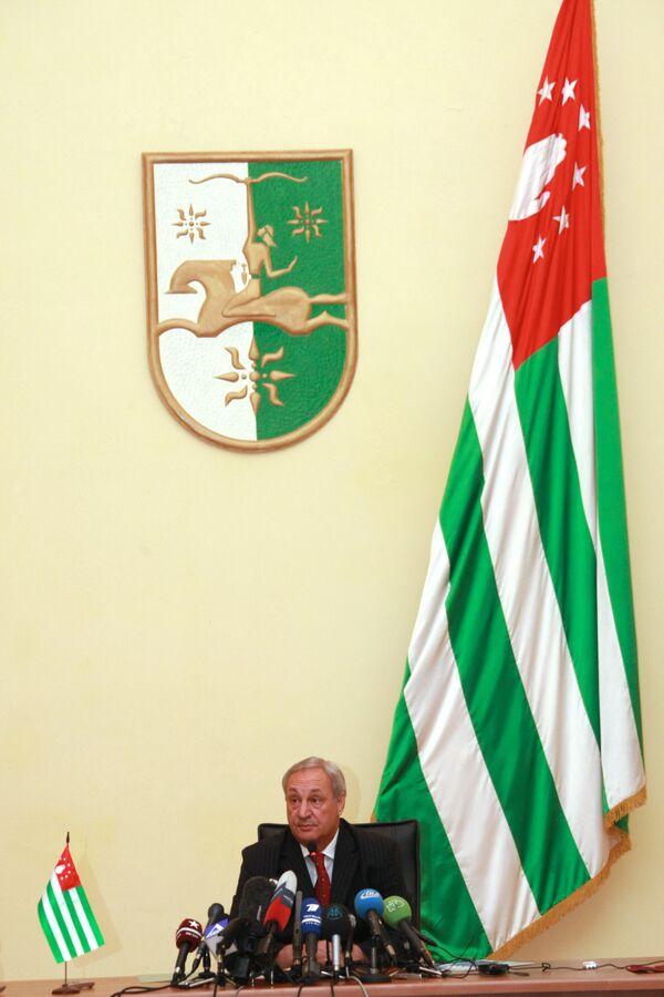 Abkhaz President Sergei Bagapsh - Sputnik International