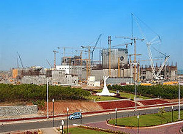 The launch of the first reactor of the Kudankulam nuclear power plant, being built on a Russian design in India, has been postponed from December 2009 to 2010 - Sputnik International