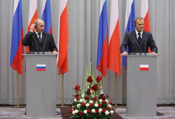 Russian Prime Minister Vladimir Putin on a working visit to Poland - Sputnik International