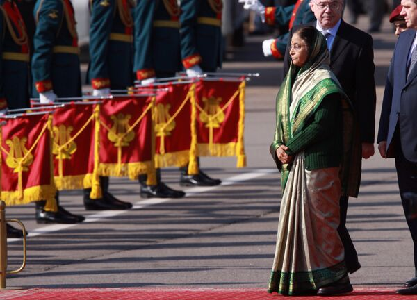 Pratibha Patil was invited to pay an official visit by Russian President Dmitry Medvedev and arrived on Wednesday. She will leave Russia on September 6. - Sputnik International