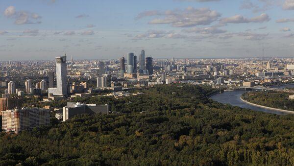 Bird's eye view of Russian capital from Moscow University tower - Sputnik International