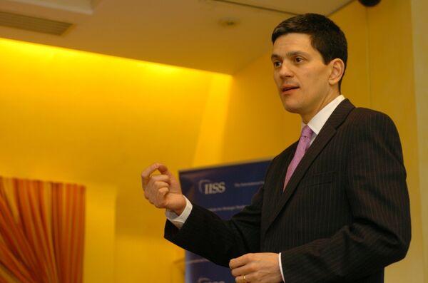 David Miliband, a former head of the British Foreign Office (archive) - Sputnik International