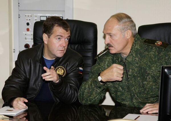 Russian, Belarusian Presidents inspect Joint Regional Command - Sputnik International