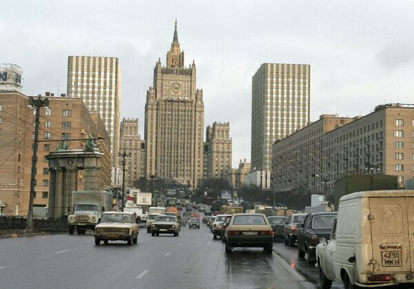 View of the Smolenskaya Square and the Russian Foreign Ministry - Sputnik International