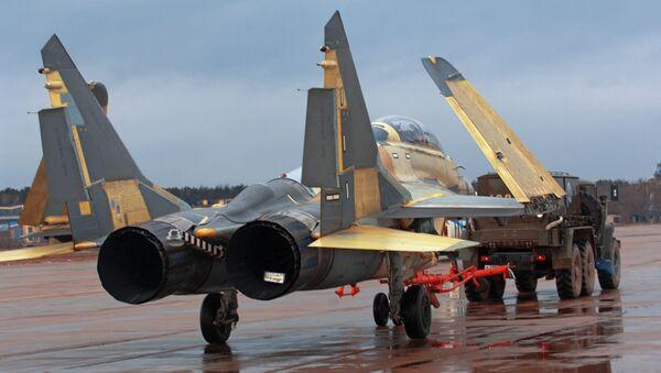 The Russian aircraft-building corporation MiG begins work on a program of flight tests of MiG-29K/MiG29KUB shipborne fighters - Sputnik International