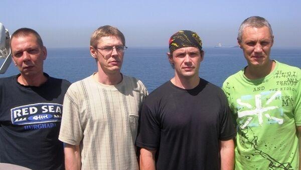 The sailors: Igor Abronychev, Yevgeniy Chernov, Roman Grigorovich, Sergei Seroshtanov - Sputnik International