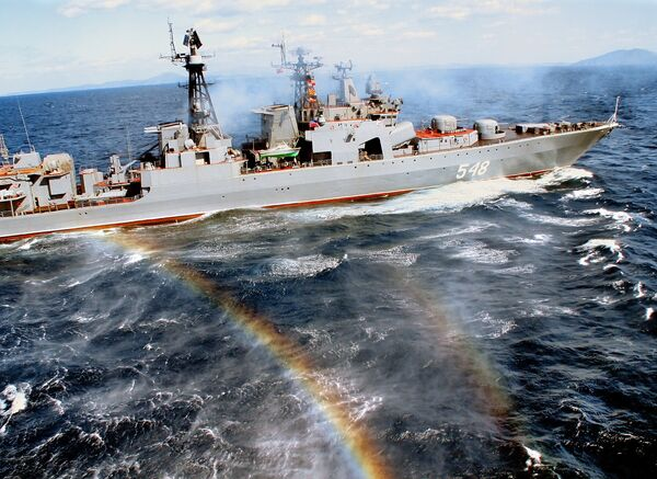 Three Russian warships have so far participated in the mission — the Baltic Fleet's Neustrashimy (Fearless) frigate, and the Pacific Fleet's Admiral Vinogradov and Admiral Panteleyev destroyers - Sputnik International