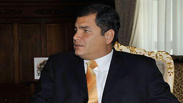 Ecuadorian President Rafael Correa - Sputnik International