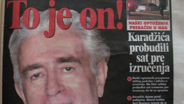 Article about Radovan Karadzic in Belgrade's Blitz newspaper - Sputnik International