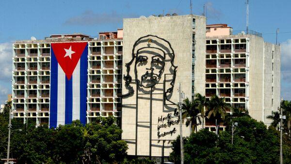 Views of Cuba. Havana. Revolution Square. Cuban Ministry of Internal Affairs. - Sputnik International