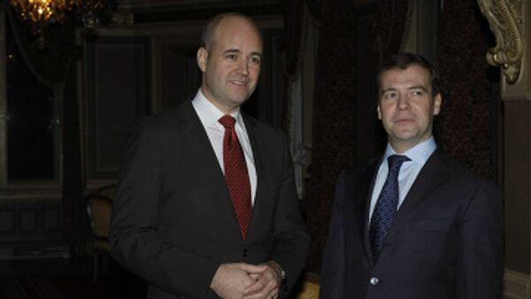 Dmitry Medvedev arrives in Stockholm, meets with Swedish PM - Sputnik International