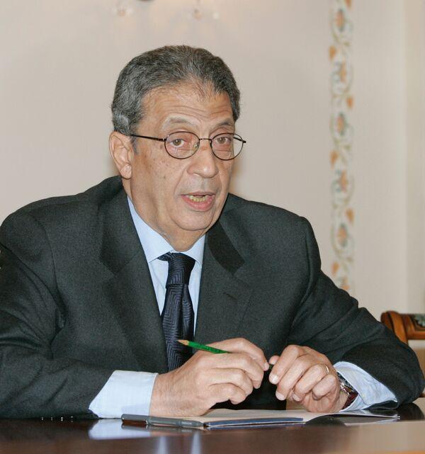 Генеральный секретарь Лиги арабских государств (ЛАГ)  Амр Муса. Архив - Sputnik International