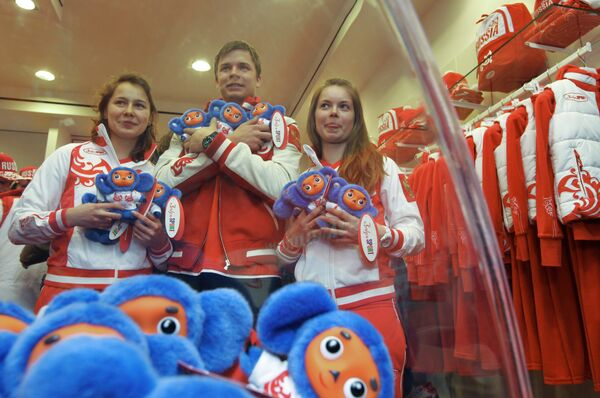 Russian star athletes receive Olympic outfits  - Sputnik International