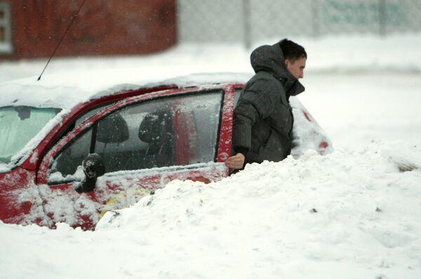 Heavy snowfall in St. Petersburg - Sputnik International