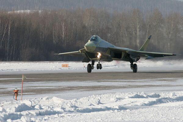 Russia's fifth-generation fighter T-50 (PAK FA)  - Sputnik International