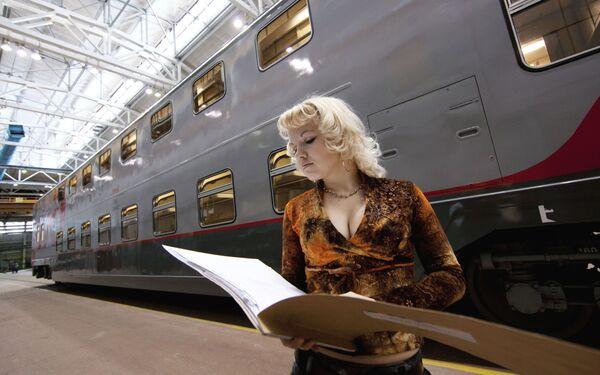 Innovation in Russian rail travel – the bilevel car - Sputnik International