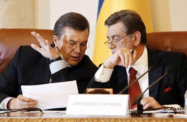 Viktor Yanukovych and Viktor Yushchenko - Sputnik International