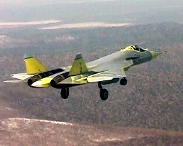 A prototype of the fighter made a 47-minute maiden flight in Russia's Far East on January 29. - Sputnik International