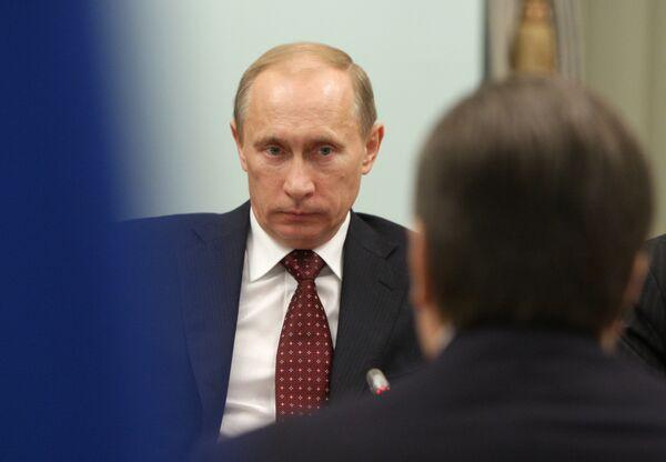 Russian Prime Minister Vladimir Putin meets with President of Ukraine Viktor Yanukovych - Sputnik International