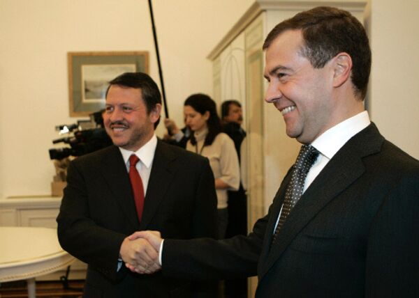 King Abdullah II of Jordan and Russian President Dmitry Medvedev - Sputnik International