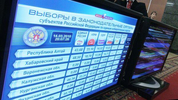 Information center of Central Election Commission of Russian Federation - Sputnik International
