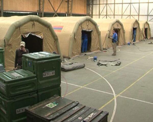 Russian rescuers erect mobile field hospital in Chile  - Sputnik International