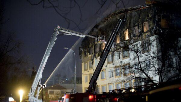 Moscow, fire - Sputnik International