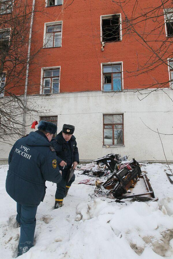 Fire in Moscow hostel - Sputnik International
