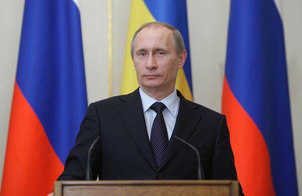Russian Prime Minister Vladimir Putin meets with Ukrainian Prime Minister Mykola Azarov - Sputnik International