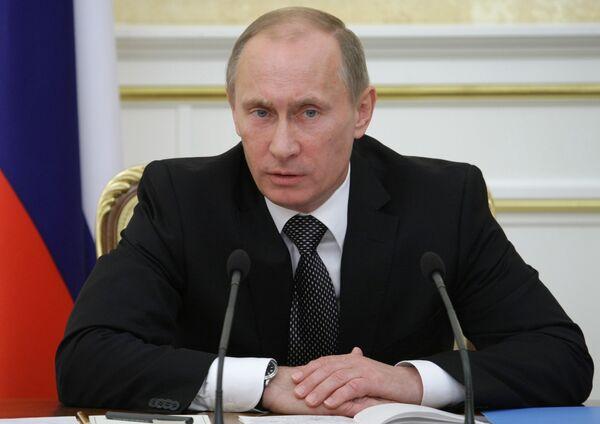 Prime Minister Vladimir Putin chairs meeting in Government House - Sputnik International