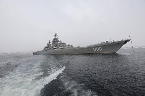 Russian nuclear cruiser makes port call in Syria - Sputnik International