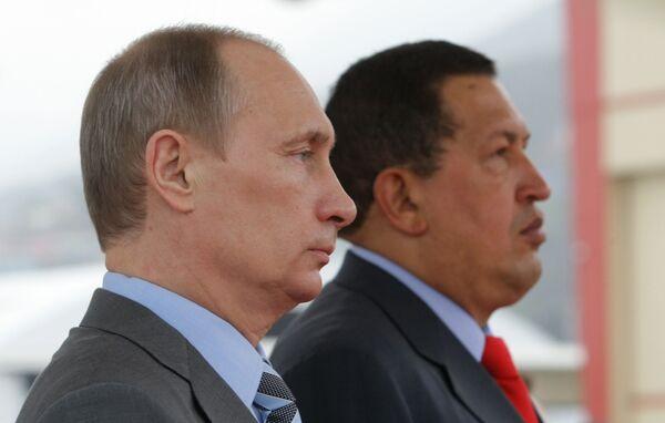 Putin meets Chavez for talks on military, energy cooperation - Sputnik International
