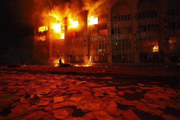 Clashes and street riots sweep through Bishkek - Sputnik International