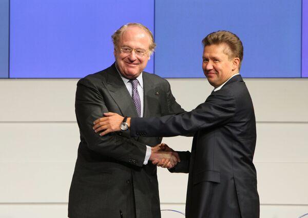 The meeting between Gazprom CEO Alexei Miller and Eni head Paolo Scaroni - Sputnik International