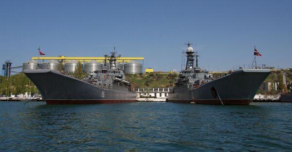 Black Sea Fleet's base in Sevastopol - Sputnik International