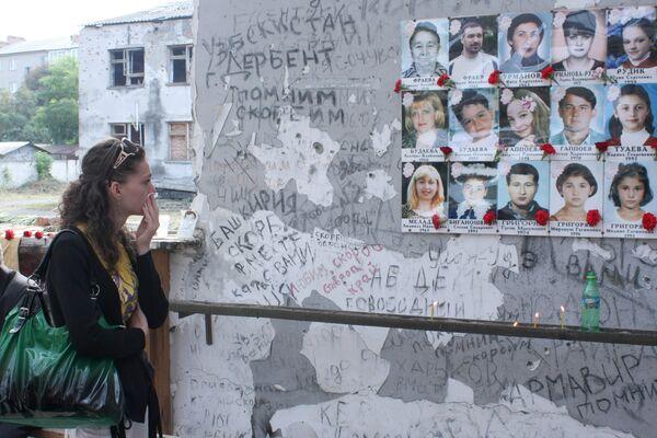 Russian soccer players mourn Beslan tragedy - Sputnik International