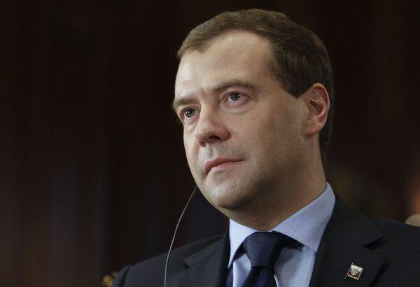 Medvedev says Mid-East security to be high on agenda of Syria visit - Sputnik International