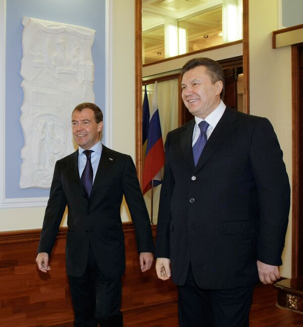 Medvedev and Yanukovych are also expected to discuss economic cooperation. - Sputnik International